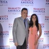 Richa Chadda poses with Boman Irani at Namaste America Event