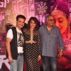 Sanjay Kapoor, Sonakshi Sinha and Boney Kapoor pose for the media at the Song Launch of Tevar