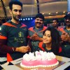 Tina Dutta poses with her Birthday Cake