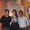 Celebs pose for the media at the Trailer Launch of Badlapur