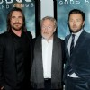 Christian Bale, Ridley Scott and Joel Edgerton at the primier