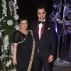 Imran Khan poses with wife Avantika at Sangeet Ceremony of Riddhi Malhotra and Tejas Talwalkar