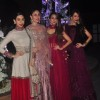Celebs pose for the media at the Sangeet Ceremony of Riddhi Malhotra and Tejas Talwalkar