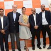 Ileana D'Cruz poses with the officials at Footin India Store Launch