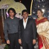 Johny Lever poses with his family at the Wedding Reception of Riddhi Malhotra and Tejas Talwalkar