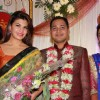 Jacqueline Fernandes poses with the Newly Wedded Couple