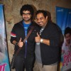 Shankar Mahadevan poses with Son Siddharth Mahadevan at the Special Screening of Mitwaa