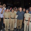 Aamir Khan poses with the Police Officials at the Special Screening of P.K. for the Cast and Crew
