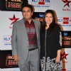 Dilip Joshi poses with wife at Big Star Entertainment Awards 2014