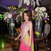 Vidya Malvade poses for the media at Uday and Shirin's Sangeet Ceremony