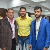 Shreyas Talpade poses with guests at the Launch of Building Bricks