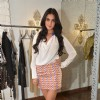 Sonal Chauhan poses for the media at Seema Khan's Christmas Collection Launch