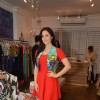Elli Avram tries out various outfits at Seema Khan's Christmas Collection Launch