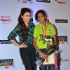 Soha Ali Khan poses with a winner at ITC Classmates Event