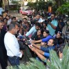 Sanjay Dutt was snapepd addressing the Media