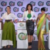 Neha Dhupia, Shilpa Shetty and Mandira Bedi pose for the media at the Ariel Event