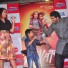 Arjun Kapoor and Sonakshi Sinha shake a leg with a young fan at the Promotions of Tevar