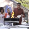 Sanjeev Kapoor prepares a dish at the Launch of Master Chef Season 4