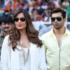 Bipasha Basu and Karan Singh Grover were seen at the CCL Match
