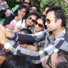 Irfan Pathan clicks a selfie with Kids at Bright Start Fellowship International School