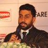 Abhishek Bachchan interacts with the audience at Press Conference of the 60th Filmfare Awards 2014