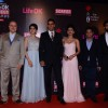 Team of BABY poses for the media at 21st Annual Life OK Screen Awards Red Carpet