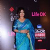Divya Dutta poses for the media at 21st Annual Life OK Screen Awards Red Carpet