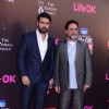 Harman Baweja and Harry Baweja pose for the media at 21st Annual Life OK Screen Awards Red Carpet