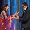 Raveena Tandon and Amitabh Bachchan at Stardust Awards 2014
