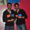 Hanif Hilal poses with a friend at the Launch of the Movie Hey Bro