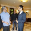 Akshay Kumar was snapped interacting with Officials at the Special Screening of BABY