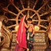 The cast enacts a scene during the Launch of Chakravartin Ashoka Samrat