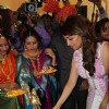 Madhuri Dixit Nene lights the lamp at the Inaugration of P.N. Gadgil Jewellers' New Showroom