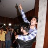 Arya Babbar and Prateik Babbar pose for the media at the Book Launch
