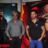 Sriram Raghavan and Varun Dhawan pose for the media at the Promotions of Badlapur