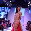 A model walks for Shougar Merchant at India Beach Fashion Week Finale