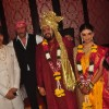 Jackie Shroff poses with the Wedding Couple Rahul and Aditi Thackeray