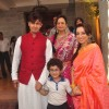 Sonu Nigam with wife Madhurima and and Son Nevaan at Rahul Thackeray's Wedding Ceremony