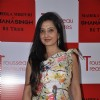 Amy Billimoria poses for the media at Maheka Mirpuri's New Collection Launch