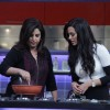 Sanaa Khan learns cooking from Farah Khan at the Launch of Farah Ki Daawat