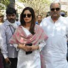 Sridevi and Boney Kapoor were snapped at D. Ramanaidu's Funeral