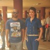 Anushka Sharma and Neil Bhoopalam pose for the media at the Promotions of NH10 at Red FM