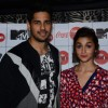 Alia Bhatt and Sidharth Malhotra pose for the media at the Launch of MTV Coke Studio