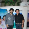 Swapnil Joshi poses with Siddharth Mahadevan at the Success Bash of Mitwa