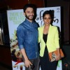 Sugandha Garg and Arjun Mathur pose for the media at the Premier of Coffee Bloom