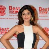 Shilpa Shetty poses for the media at the Launch of her New Home Shop Venture