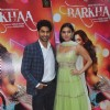 Taaha Shah and Sara Loren pose for the media at the Trailer Launch of Barkhaa