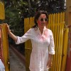 Tisca Chopra poses for the media at Shabana Azmi's Holi Bash