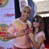 Baba Sehgal poses for the media at Zoom Holi Bash