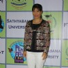 Mary Kom poses for the media at Sathyabama University